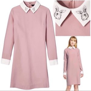 Victoria Beckham Target Rabbit Collar Mod Dress